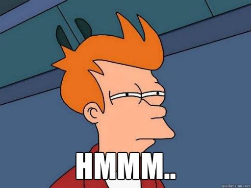 """Fry pondering """"hmm what is Regtech"""""""