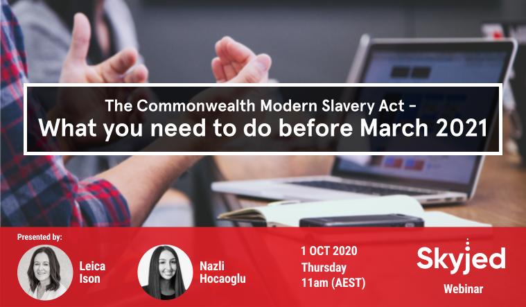 Modern Slavery Webinar 2020
